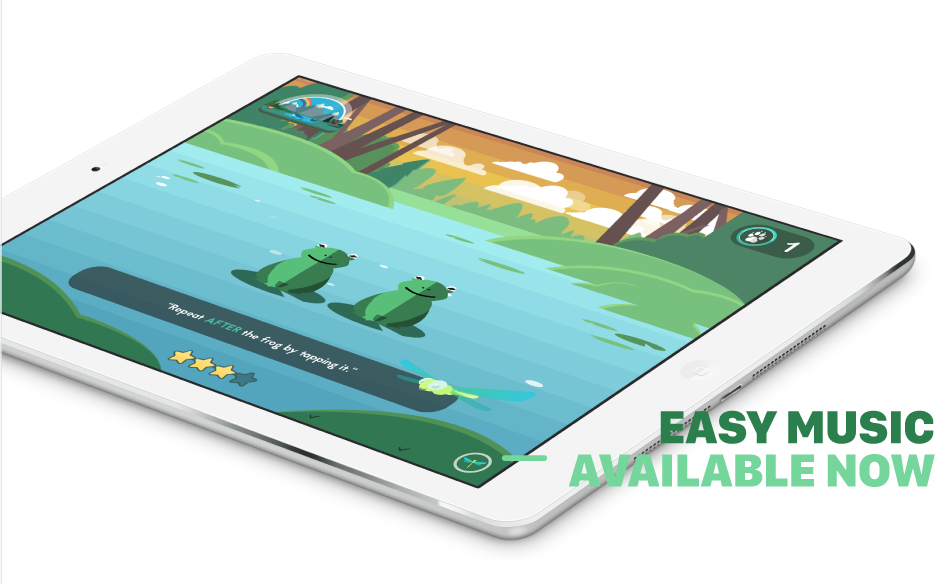 Easy Music iPad Frogs